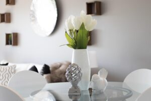 Prep your home to sell by decluttering, cleaning and staging.
